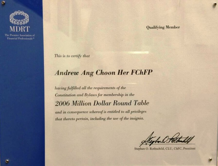My Curriculum Vitae As A Financial Planner Andrew Ang